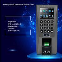 Временный акции дешевый TFT ЖК Экран Отпечатков Пальцев PIN Контроля Доступа Посещаемость Времени ZK F18 Биометрический Доступ Магнитная ID Карт