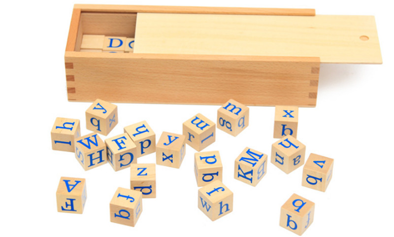 New Wooden Baby Toy Montessori A to Z Letters Spelling Educational Gifts