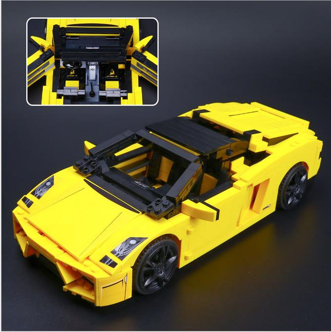 Gallardo LP 560-4 Building Blocks 1069 lepine technic bricks 8169 action figure stickers car vehicle toys for children phil collins singles 4 lp