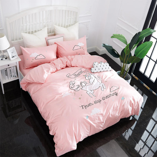 Cute Unicorn Bedding Set