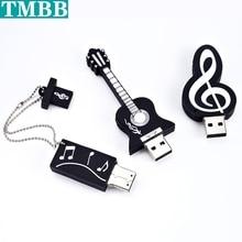 Горячий музыка инструмент USB флешка диск дешевый ручка диск 4 ГБ 8 ГБ 16 ГБ USB Stick память 128 ГБ 32 ГБ 64 ГБ Pendrive U диск креатив подарок