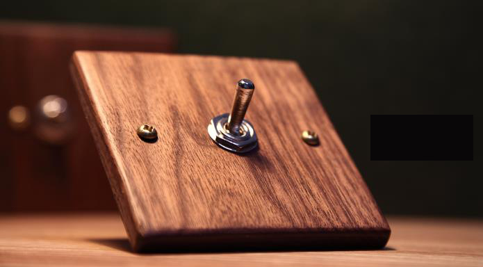 Retro Switch Hand Made Wood Black walnut 86 Style  American style 6A 110V- 250V стоимость
