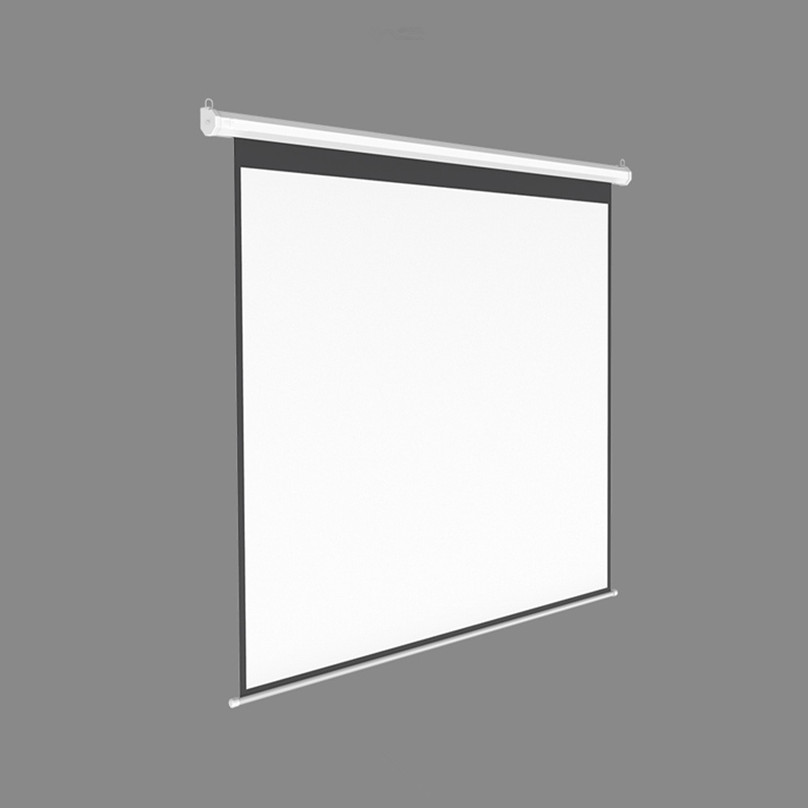 Tüketici Elektroniği'ten Projeksiyon Ekranları'de 106 ''Ekonomi Elektrikli motorlu projektör ekranı 16:9 HDTV formatı ev sineması/ofifce için uygun duvar/tavan montajı title=