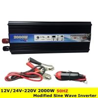 Professional 2000W Car Inverter DC 12V 24V To AC 220V Power Inverter Charger Converter Transformer Vehicle