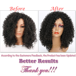 Image 3 - MISS WIG long Kinky Curly Wigs Black Mixed Brown Blonde Afro Wig Medium Wigs for Black Women High Temperature Fiber
