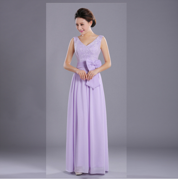 666e0152b436 greek chiffon bridesmaid ladies summer women light purple lace top dress  formal long dresses lavender for wedding guest D1919