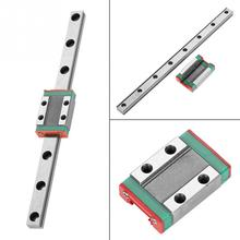 1PC LML9B Miniature Linear Rail Guide Rail 9mm Width+Slide Block Linear Guide Rail Print Parts CNC high precision 20mm linear guide rail sets 1pcstrh20 l 1300mm linear rail 2pcs trh20a carriages slide block for cnc parts