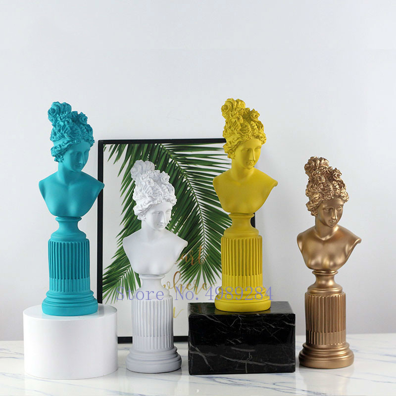 Nordic Venus goddess statue Decoration Living room study room decoration Character crafts Resin accessories modern