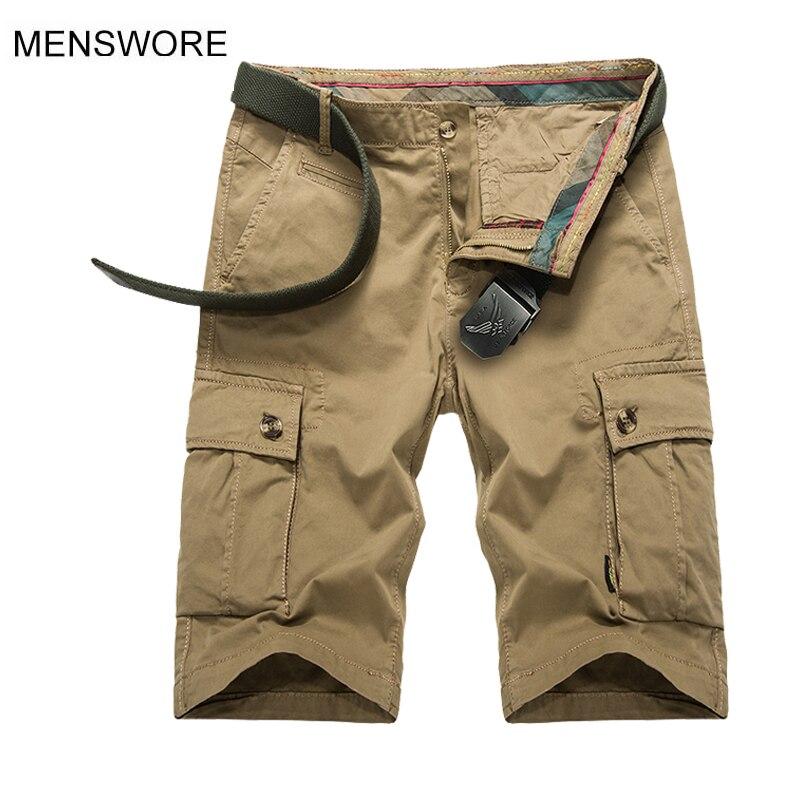 MENSWORE 2018 New Brand Shorts Men Summer Short Pants Camouflage Military Clothing Fashion Mens Cargo Shorts