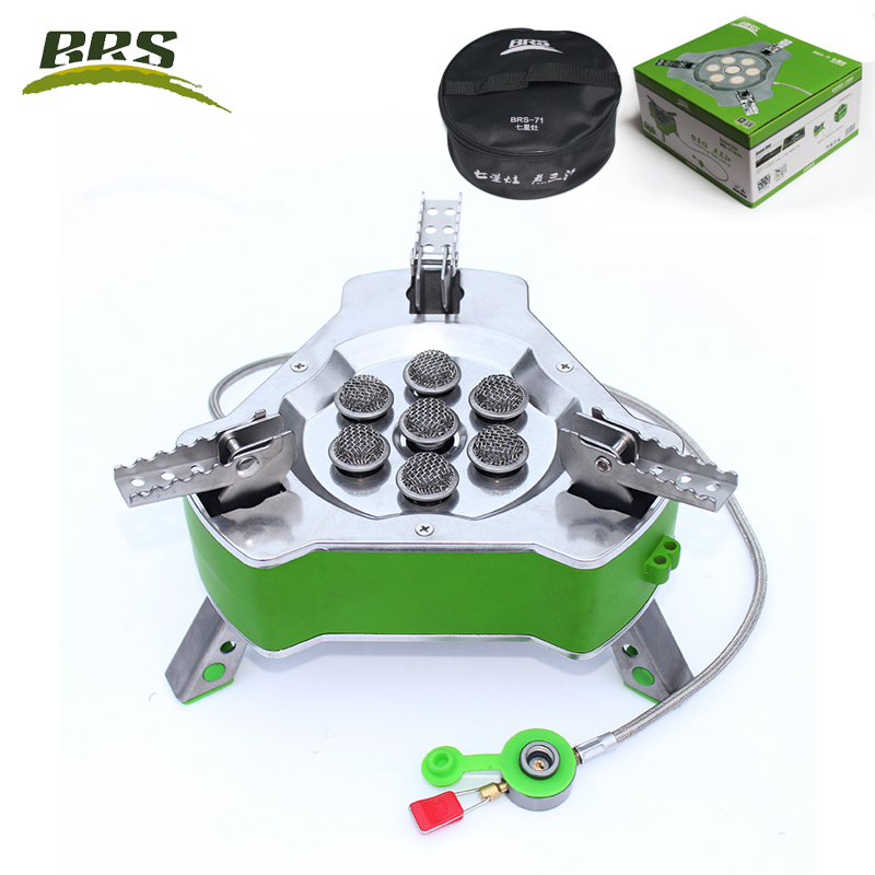 BRS Outdoor Folding Gas Stove 9800W Super Power Camping Hiking Picnic Foldable Stove Equipment Furnace Stir