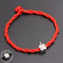 cb373b1f4ef2 Compra silver bead red string bracelet y disfruta del envío gratuito ...