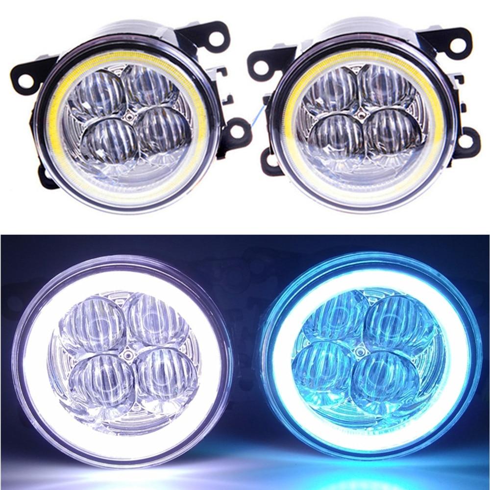 car-styling Angel eyes DRL Lens Fog Lamps Lighting LED Lights For Jaguar S-Type X-Type XK Convertible _J43 for jaguar s type 1999 2008 led lamps fog light lights car styling 1 set
