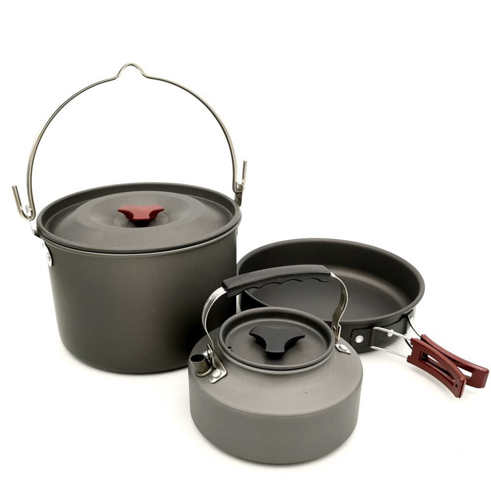 Image 4 - VILEAD 19pcs 4 Persons Camping Cookware Set Hanging pot Pan Cup Teaport Outdoor Cooking Portable Folding Tableware Picnic Set-in Camping Cookware from Sports & Entertainment