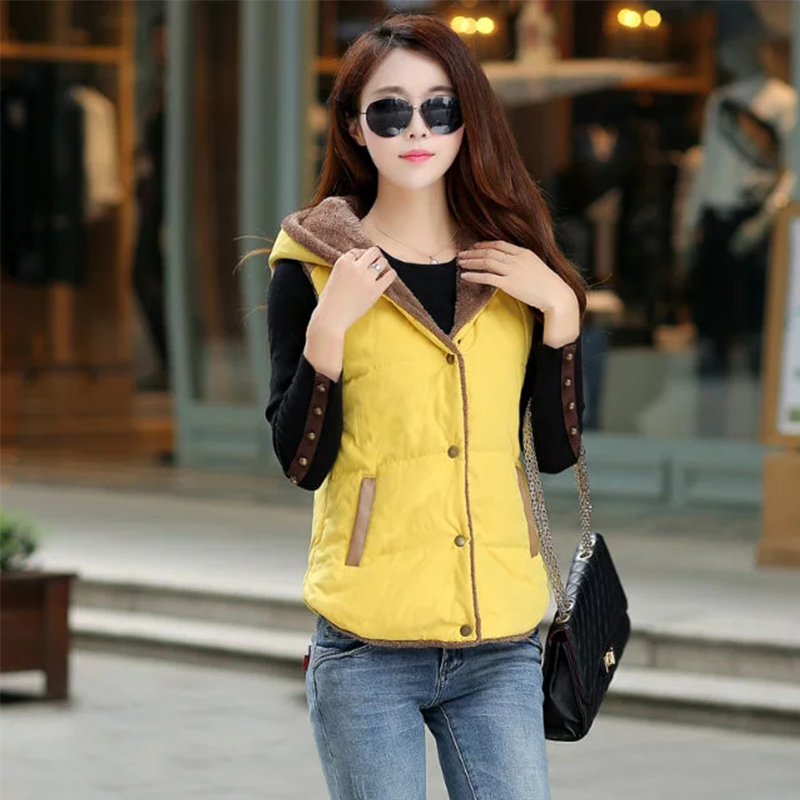 2017 Hot Sale Ladies Vest Coat Casual Style Autumn winter Sleeveless font b Jacket b font