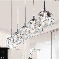 Nordic Modern Simple Personality LED K9 Crystal Hanging Lamp Single Head Three Restaurant Bar Bedroom Lighting