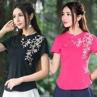 伝統的な中国clothing 2017エスニックtシャツプラスサイズ女性clothing女