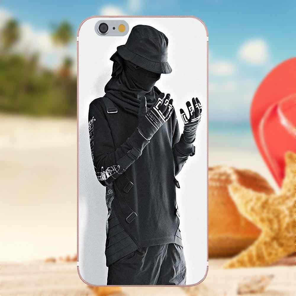 Чехол из ТПУ Kinjaz Ninja в стиле хип-хоп для iPhone X, 4S, 5S, 5C, SE, 6 S, 7, 8 Plus, Galaxy Note 5, 6, 8, S9 + Grand Core Prime Alpha