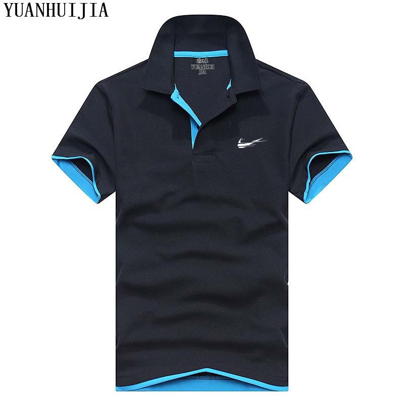Best selling new 2018 fashion brand men's cotton   polo   shirt casual shirt men's   Polo   shirt solid color slim breathable shirt