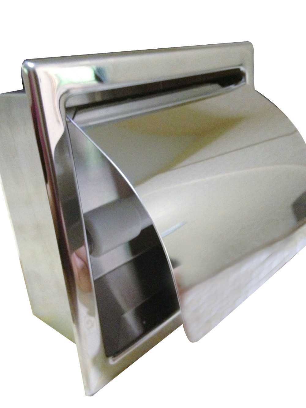 Recessed stainless steel bathroom toilet roll paper holder tissue dispenser in paper holders - Tissue holder bathroom ...