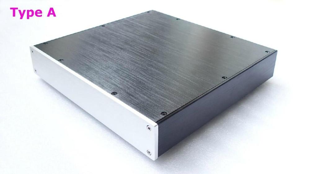 Aluminum Power Amplifier Enclosure/DAC case/Preamp case/PSU Box chassis L3205 ll4312 pass full aluminum enclosure power amplifier box psu chassis preamp case
