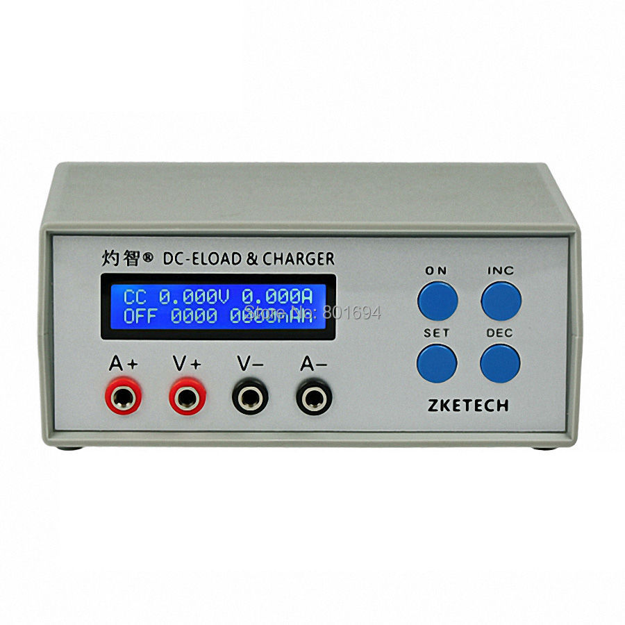 EBC A05+ Battery Capacity Tester 5V12V24V Portable Power Performance Electronic Load Test 0 10V Charge 3A and 0 30V Discharge 5A