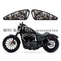 Motorcycle Fuel Tank Decals Stickers Custom Skull Flame Design For Sportster XL883 883N/R/L XL1200 1200N/C/R/V/L 48 72