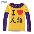 New Anime NO GAME NO LIFE Sora Cosplay Short/Long Sleeve Tee Shirts Casual T-shirt Unisex Pure Cotton Tops