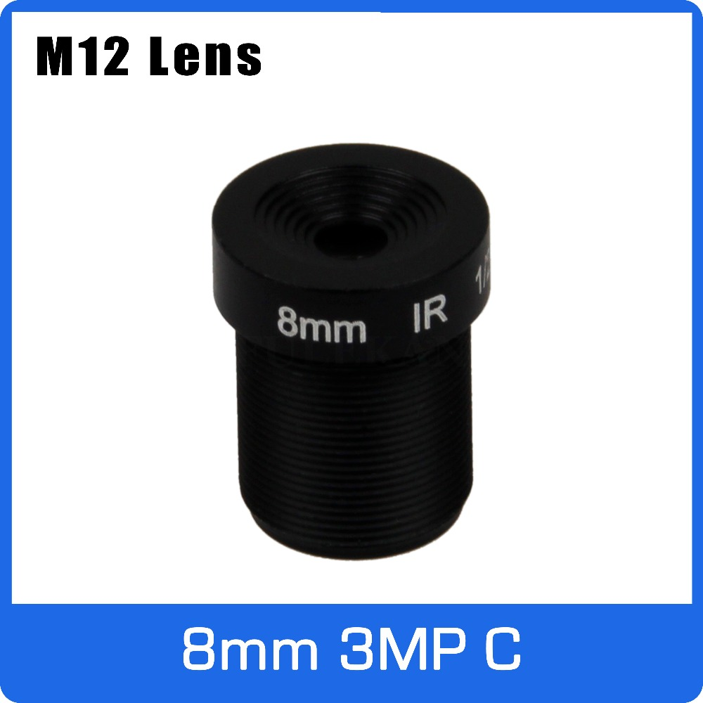 3Megapixel M12 Fixed 1/2.7 inch 8mm CCTV Lens For HD 1080P CCTV Camera Free Shipping witrue 1 3megapixel 25mm cctv lens m12 mount aperture f2 0 for security cctv camera
