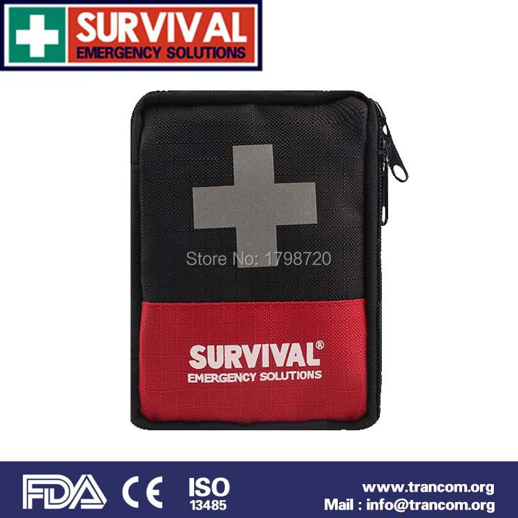 TR112 Top Quality outdoor portable first aid kit new survival kit car first aid kit bag size 13cm x 9cm x 4cm empty bag for travel medical kit outdoor emergency kit home first aid kit treatment pack camping mini survival bag