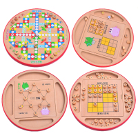 UTOYSLAND Multifunction Wooden Adult Desktop Game Shudoku Puzzle Game Board Toys For Children Indoor Outdoor Games