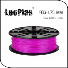 Worldwide Fast Delivery Direct Manufacturer 3D Printer Material 1kg 2.2lb 1.75mm Glow In Dark Purple ABS Filament