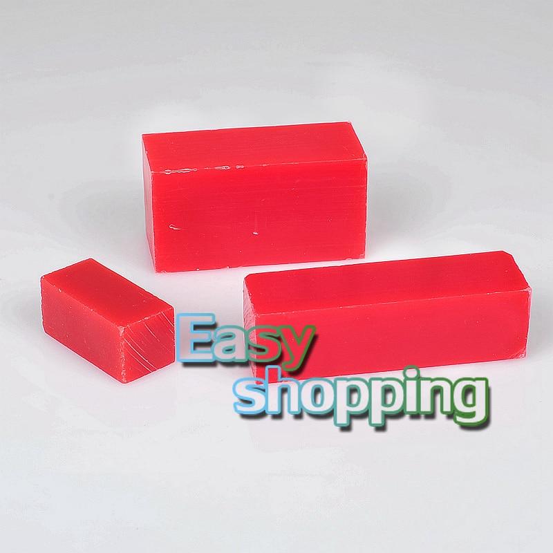 Dental materials mechanic student red carving wax blocks