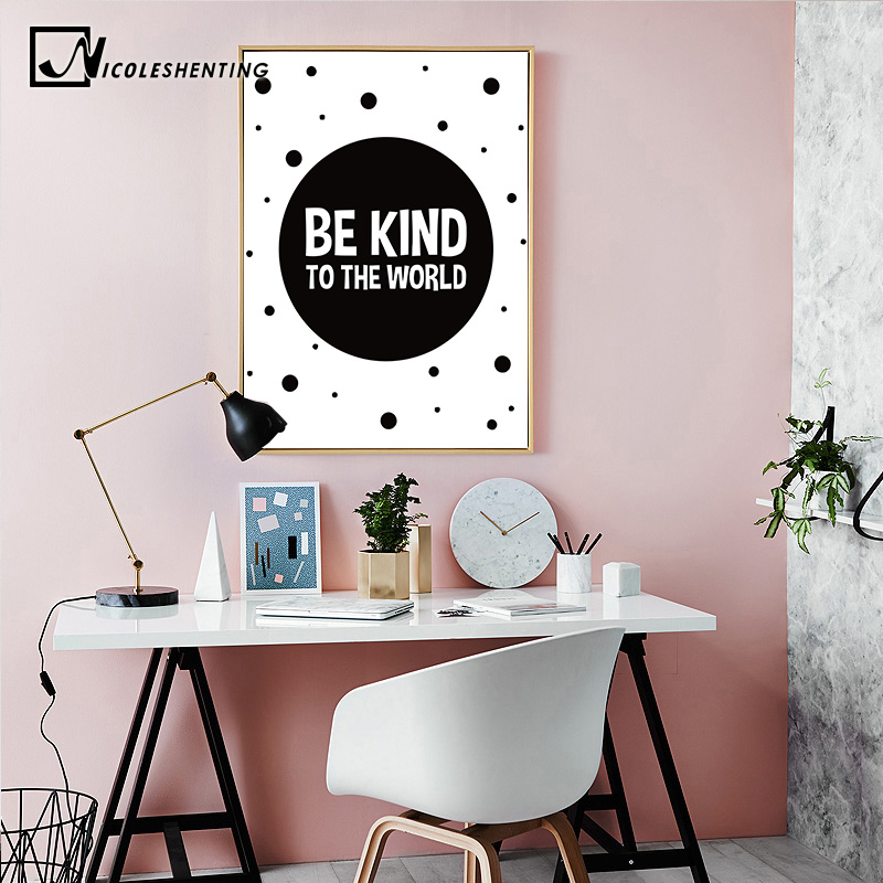 Geometry Black White Motivational Poster Canvas Prints Minimalist Wall Art Painting Nursery Picture Wall Decoration Living Room