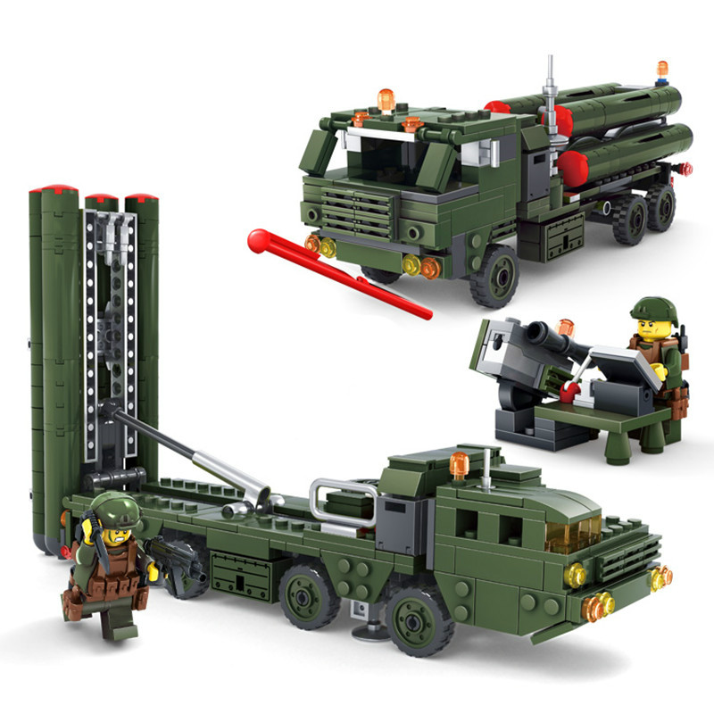 New 536Pcs Field Army Series Missile Launcher Military Lepins Building Blocks Bricks Action Figures Educational Toy for Children [small particles] buoubuou creative puzzle toy toy bricks 30 16219 new military military series
