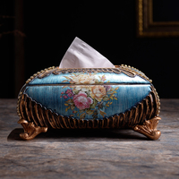 European luxury new paper towel boxes, home tea tables, decorative decorations, Mediterranean Home, high end carton
