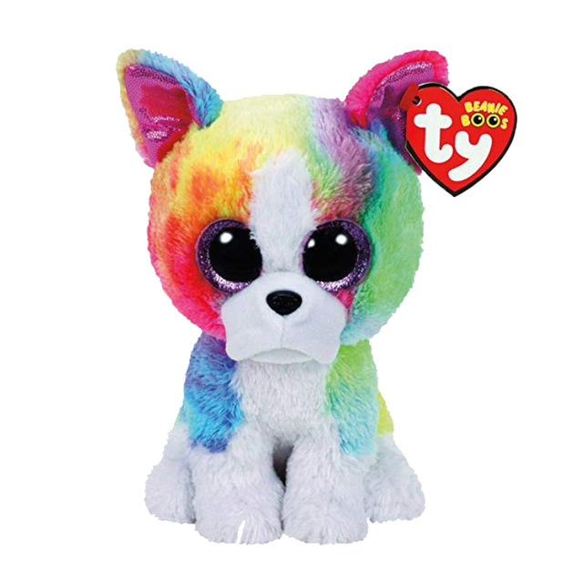 86584c725b6 TY Beanie Boo Small Isla the Rainbow Bulldog Unicorn Plush Toy Claire s  Girl s Plush Stuffed Collectible Soft Doll Toy