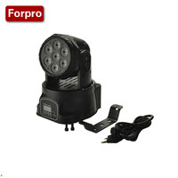 Hot 1PCS LED Moving Head Mini Wash 7x12w RGBW Quad With Advanced 14 Channels LED Effect