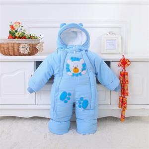 Image 1 - Baby Clothes Winter Autumn Style Newborn Baby Rompers New Cotton padded Baby Boys Girls Jumpsuits Cartoon Infant Overalls