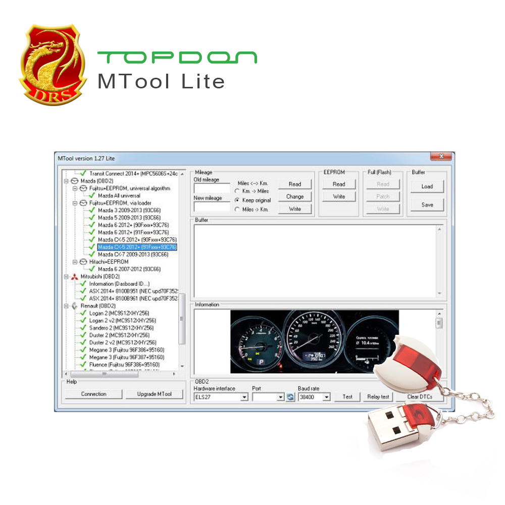 Mileage Programmer MTool Use to Adjust the Mileage Change of Cars ODB M-BUS Car Mileage Correction Tool of run ...