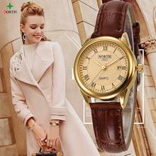 NEW Women Fashion Casual Watch 30M Waterproof Luxury Brand Quartz Female Watches Ladies NORTH Gold Dress Wristwatch Nontre femme
