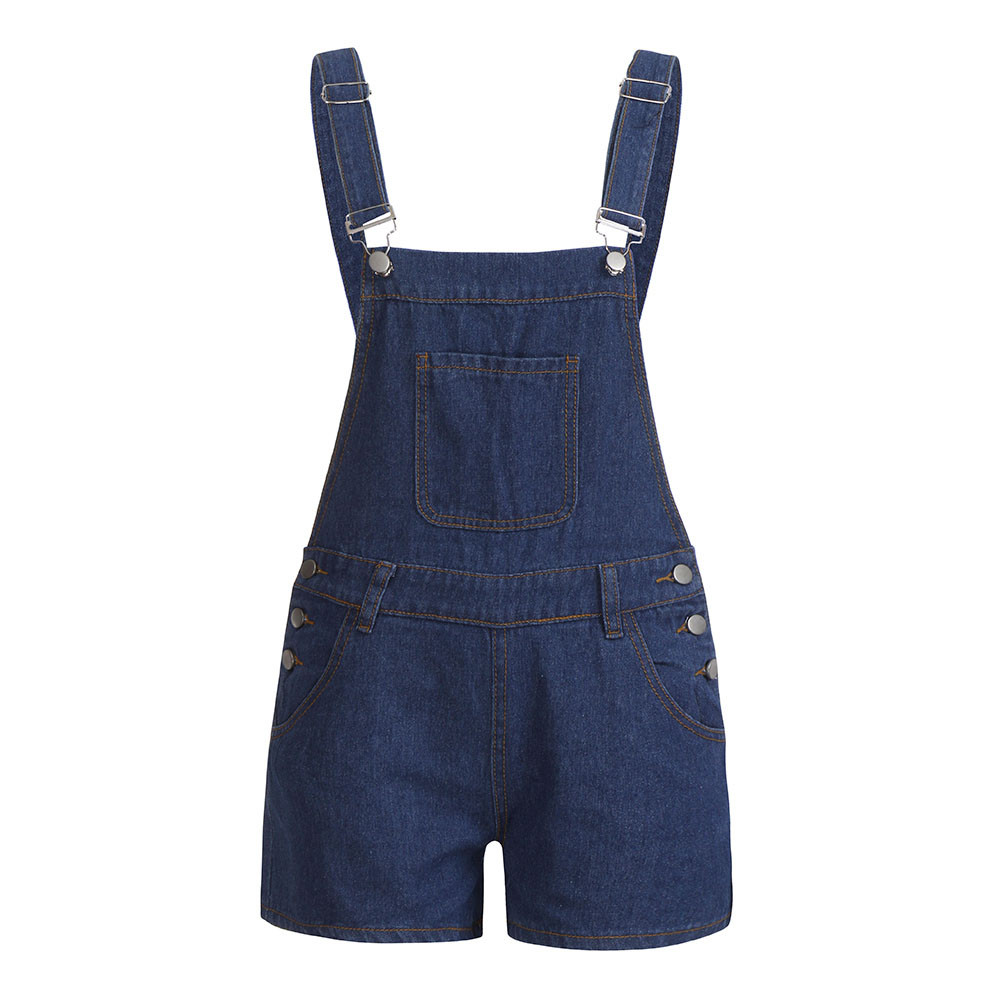 JAYCOAIN Cotton Blend Woman Jeans Solid Tall Waist Line  Jumpsuits For Women 2019 Summer Overalls Jeans Loose Denim Pants