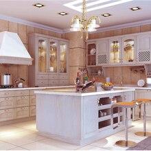 Сборный кухонный шкаф из цельного дерева, модульные кухонные шкафы, мебель от поставщиков из Китая, кухонная мебель из цельного дерева