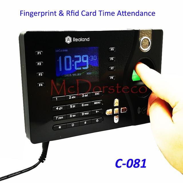 a c081 tcp ip biometric fingerprint time clock recorder attendance