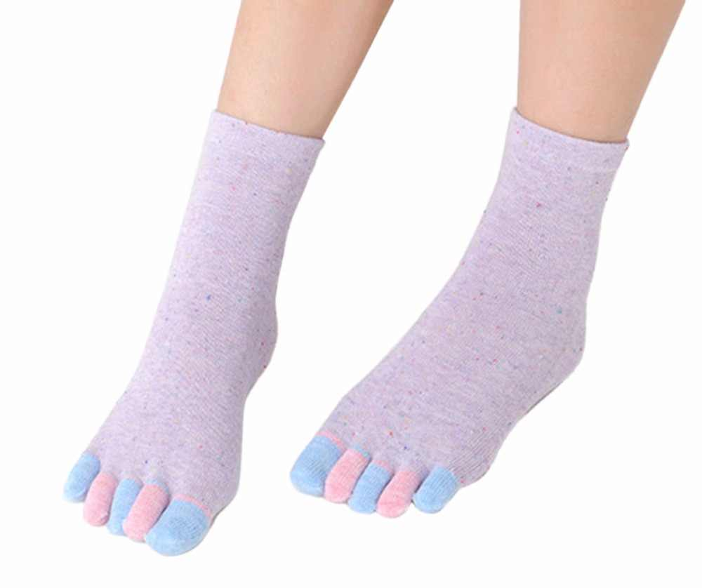 Новые женские носки для беременных с пятью пальцами белые хлопковые Повседневные носки Летние Осенние пальцы рук и ног носки для беременных женщин 6 цветов