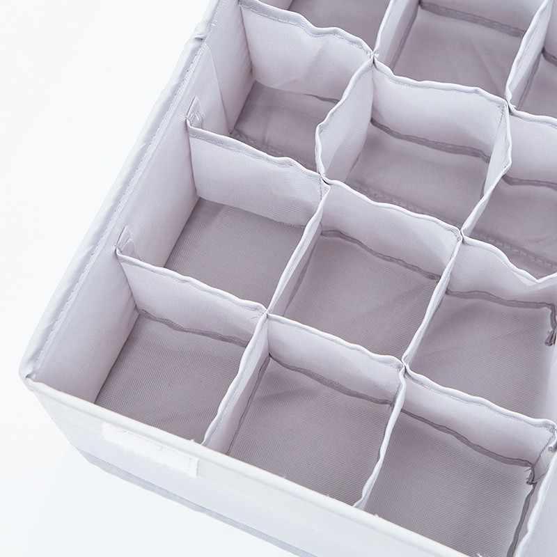 Não-tecido Dobrável Saco De Caixa De Armazenamento Caixa Organizador Casa Caixa de Underwear Bra Gravata Meias caixa de Armazenamento Organizador Caixa