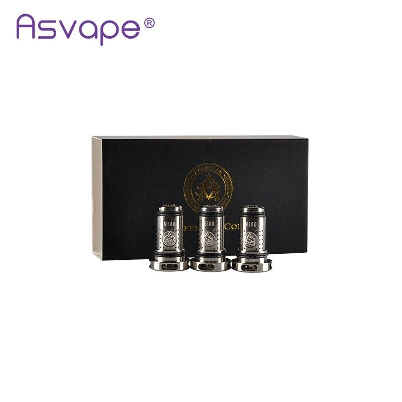 5 unids/lote Original Asvape defensor 0.3ohm SS316 Sub Ohm bobina mejor encuentro con cigarrillo electrónico Asvape defensor Kit de iniciación
