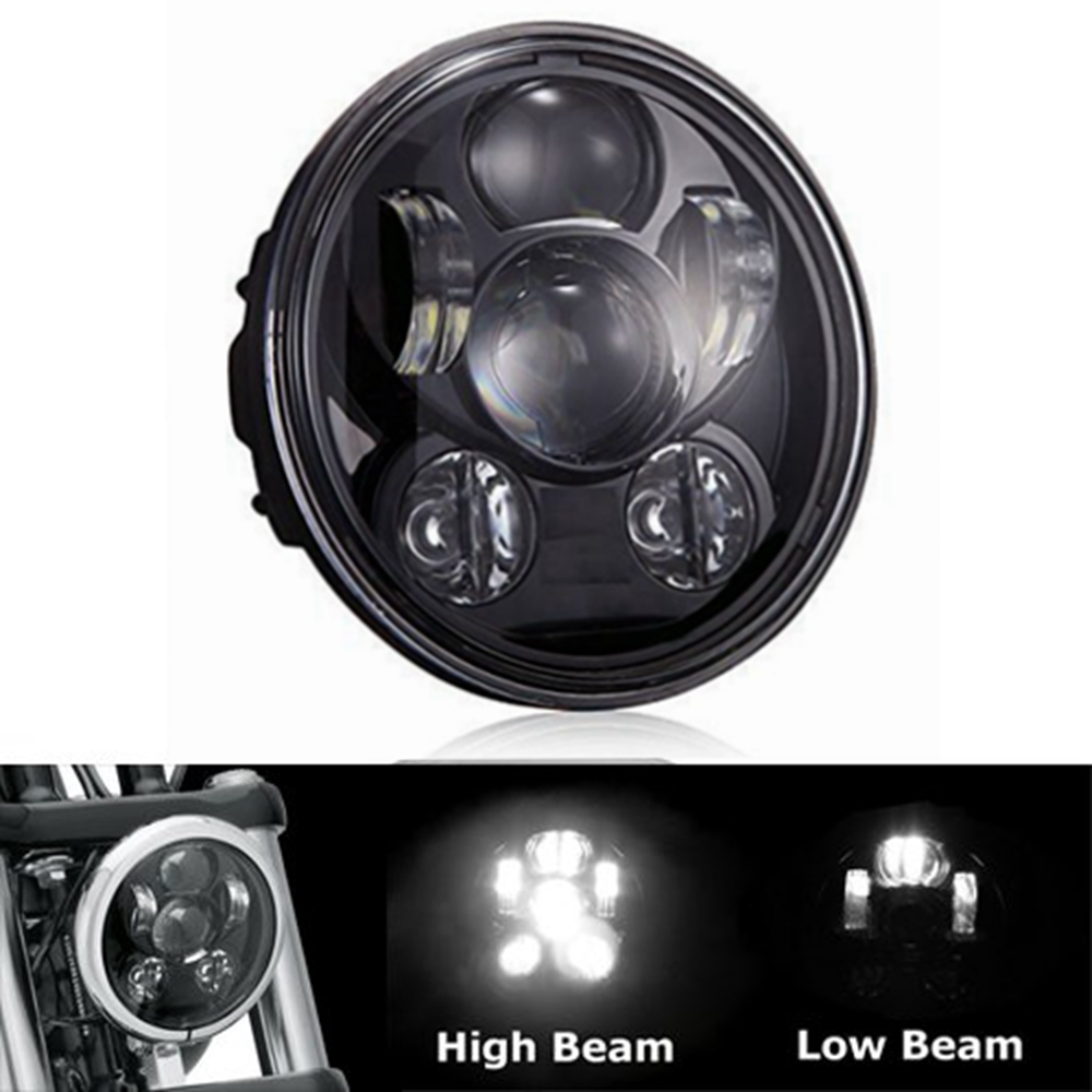 5 3 4 5 75 Daymaker LED Headlight for Harley Davidson Motorcycle Headlamp Projector Driving font