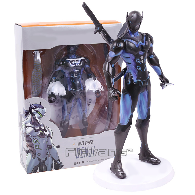 Hot Game Genji Ninja Cyborg PVC Action Figure Collectible Model Toy 25cm 2 Colors new game ashe action figure collectible model toy pvc 23cm game figures doll brinquedos juguetes hot sale free shipping