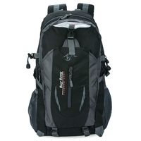 Large Capacity Patchwork Buckle Ladder Lock Zipper S Shape Mesh Strap Portable Backpack