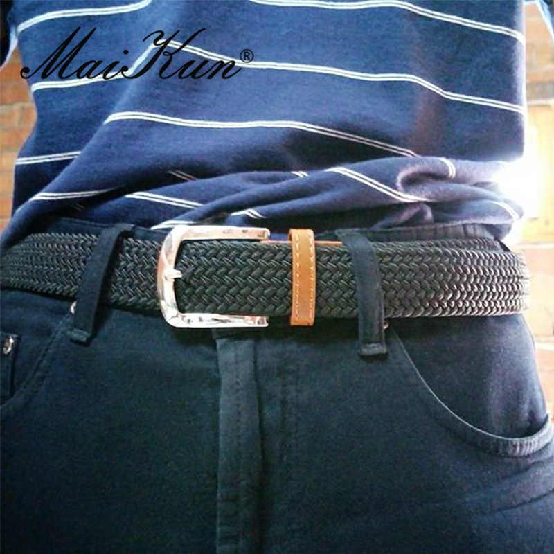 Высокое качество модные эластичные холст Ремни для Для женщин Элитный бренд Для женщин Ремни Военная Униформа Тактические пояса Булавки пряжки ремня 11 Цвета